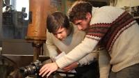 Die Studenten filmten in einer Werkstatt in Neukirchen